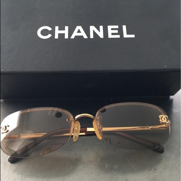 d850286e7074 CHANEL Accessories - Authentic Chanel frameless sunglasses